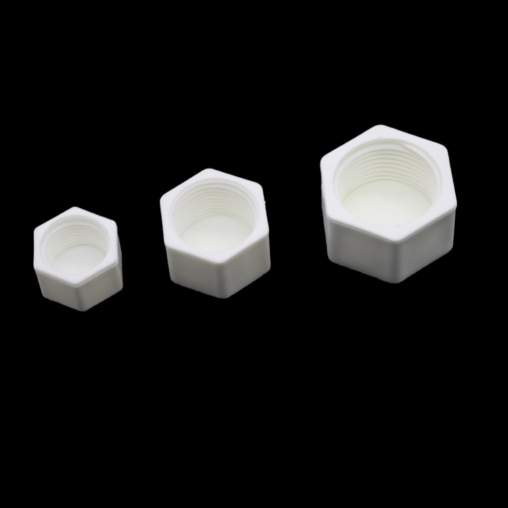 2 Pcs 1/2 Inch 3/4 Inch 1 Inch Female Thread Pipe End Plugs Internal Thread Garden Water Pipe End Connectors Tube Waterstop Caps