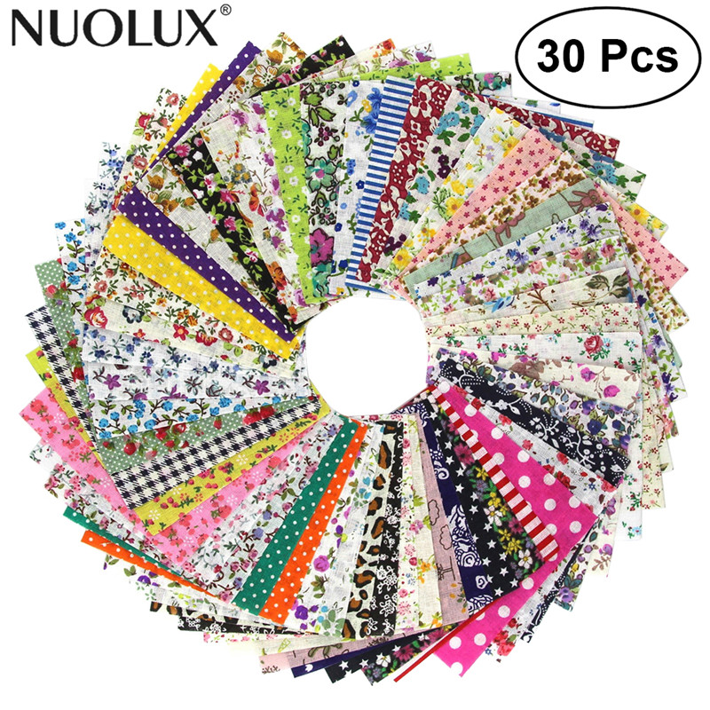 NUOLUX 30/50 Pcs Floral Cotton Craft Fabric Square Sheet For Patchwork Sewing DIY Craft Patches Decoration craft