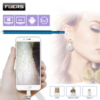 Fuers Otoscope Camera 720P Endoscope HD Visual Ear Spoon EarPick Ear Cleaner Camera OTG Android Cleaning