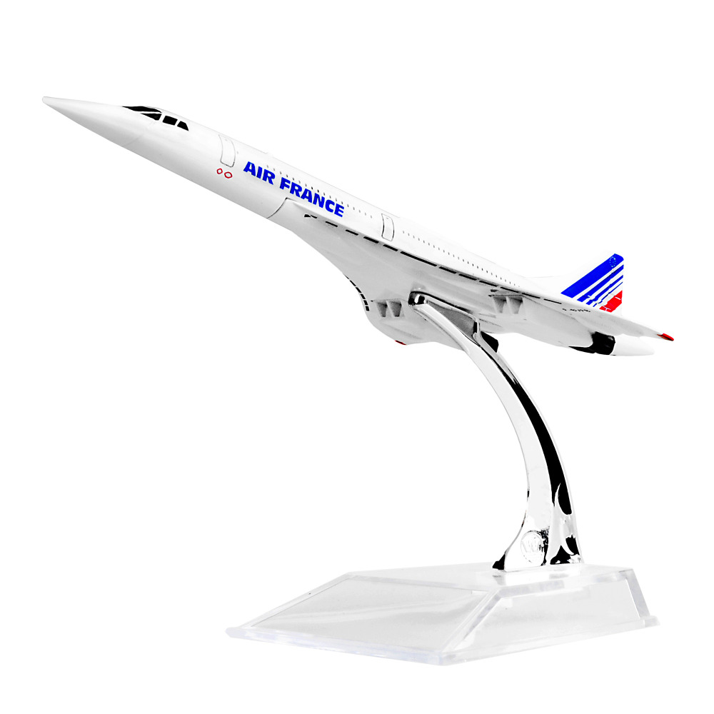 The Air France F-BVFB Concorde 16cm Metal Airplane Models Child Birthday Gift Christmas Gift Plane Models Free Shipping image