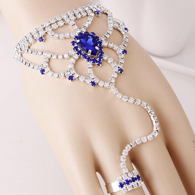 Для женщин Уникальный горный хрусталь красный капли цепь, браслет и кольцо установить более Цвета, Бесплатная доставка Свадебные украшения...