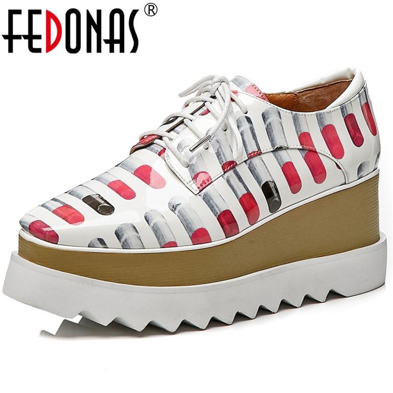 En Sexy Véritable Chaussures Plates Automne Appartements Printemps Sport 1 Corss Femmes formes Nouvelles De Fedonas Cuir Femme attaché 2 Nouveau 75q1f6qWwx