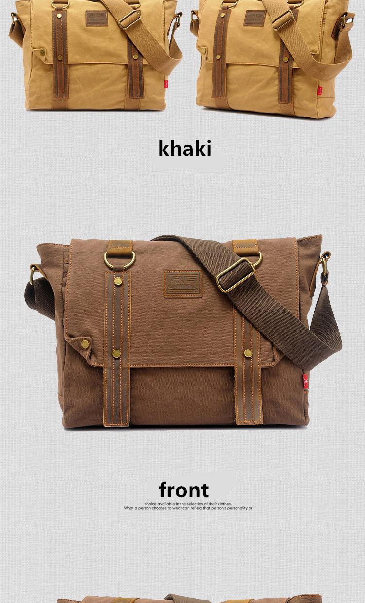 9d78de8467dc AUGUR New Men Canvas Bag Men Shoulder Bag Messenger Foreign Trade ...