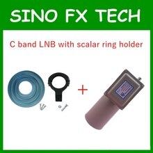 Preço de fábrica anel de banda c lnb único + escalar e lnb titular braket