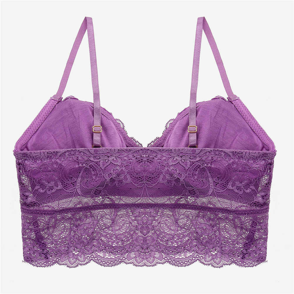 09d57d7498 ... Hot Sexy Lace Floral Bralette Bras Lingerie Seamless Wireless One Piece Push  Up Bras For Women