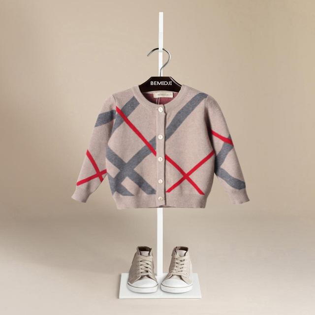 Meninos camisola 2016 crianças marca de moda xadrez casaco camisola meninos e meninas camisola nuvem 2-6y crianças criança roupas camisola
