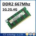 Promoção 1 gb 2 gb 4 gb 8 gb ddr2 667 Mhz pc2-5300 so-dimm laptop, memória ram ddr2 2 gb 667 pc2 5300, sodimm ddr2 2 gb 667 mhz