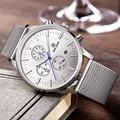 2017 megir cronógrafo de los hombres relojes hombres marca de lujo reloj hombre reloj hombre acero completa plata megir relojes hombres relojes hombre