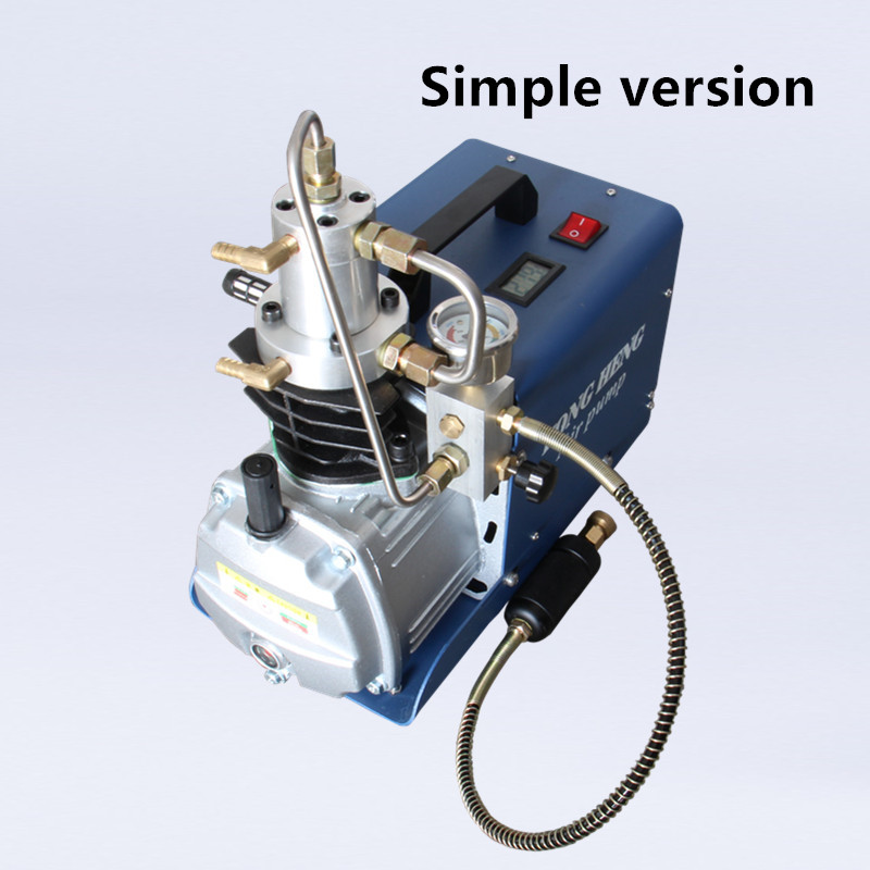 Air Pump High Pressure 300BAR 30MPA 4500PSI Electric Air Compressor for Pneumatic Airgun Scuba Rifle PCP Inflator 220v 110v yongheng 300bar 30mpa 4500psi high pressure air pump electric air compressor for pneumatic airgun scuba rifle pcp inflator