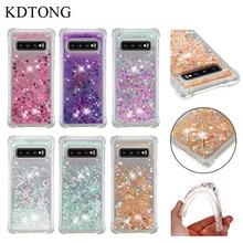 KDTONG Case sFor Samsung Galaxy S10E S10 Plus Glitter Liquid Transparent Soft Silicone TPU Cover For S 10