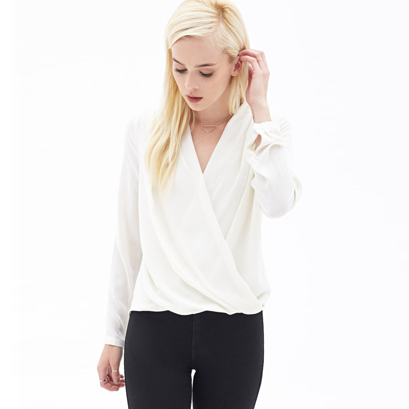 Compare Prices on White Crossover Blouse- Online Shopping/Buy Low ...
