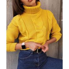 Winter Woman Thick Turtleneck Sweaters Solid Female Casual Loose Knit Pullover Big Size Warm Women