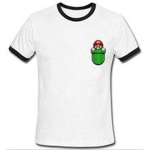 Men Tshirt 2016 Funny Mario Inside Your Pocket T Shirt Summer Brand Clothing Fashion Creative T-shirt Men Short Sleeve Tees