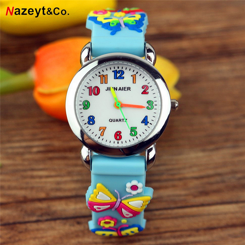 Dropshipping NAZEYT New Fashion Children Cute Cartoon Quartz Watch Little Boys Girls Easy Learn Time Simple Dial Jelly Watch