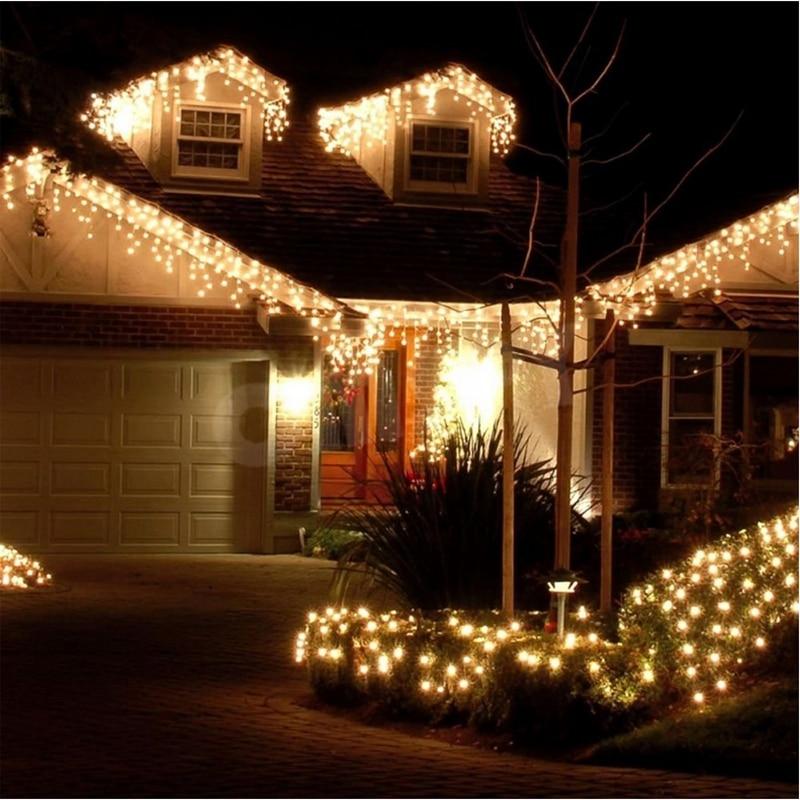 Luzes de natal decoração ao ar livre 4.5 m droop 0.4-0.6 m led - Iluminação festiva - Foto 2
