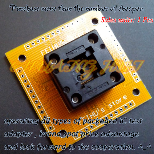 IC TEST QFP48 test socket TQFP48 QFP48 Adapter OTQ-48-0.5-01 Pitch=0.5mm Size=7X7mm /9X9mm tqfp48 to dip48 programmer adapter qfp48 ic test socket 1pin to 1pin pitch 0 5mm size 7mmx7mm 9mm 9mm