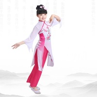 Girls Hanfu Chinese folk dance costumes for kids classical dance clothing Chinese traditional dance costumes umbrella fan dance