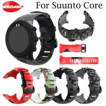 watchstrap Replacement Silicone Strap for Sunnto core outdoor Sport Smart Wristband Band Bracelet Accessories