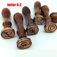 Free Shipping Copper Vintage Stampers Wax Seal Wood W Handle 0010226