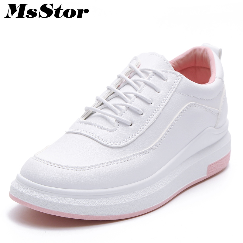 MsStor Round Toe Mixed Colors Women Flats Woman Flat Casual Shoes 2018 New Spring Cross tied Lace Up Women Skateboarding Shoes микола хвильовий наречений