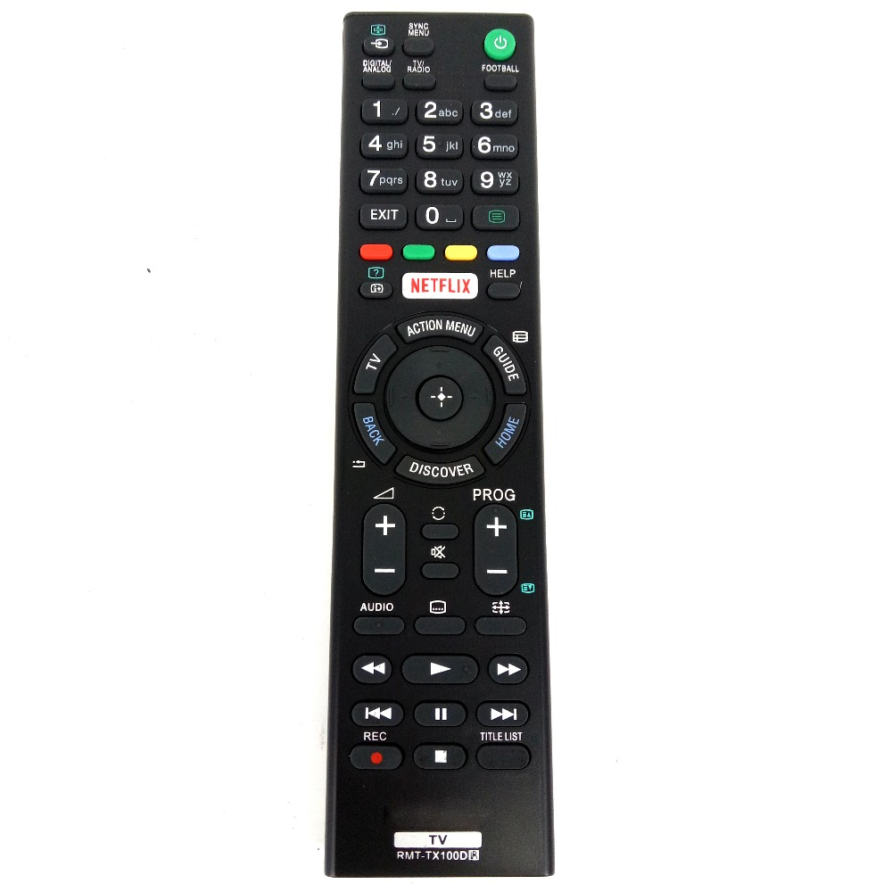 Hot sale For Sony 4K HDR with Android TV Remote RMT-TX100D RMT-TX102D NETFLIX LED TV for KD-43X8301C KD-55XD8599 Fernbedienung