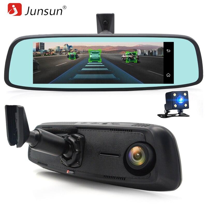 """Junsun ADAS 4 г видеорегистратор автомобильный GPS навигации рекордер зеркало 7.86 """"Android с двумя камеры навигатор видеорегистратор Регистратор черный коробка"""