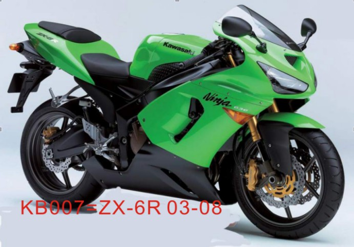 ZX6R 2006 Ninja Full Decals Sticker Graphics Set Kit 636 Motorcycle ...