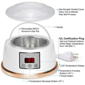 Image 2 - Wax Warmer Hair Removal Waxing Kit Constant Temperature Setting Electric Paraffin Wax Heater Pot with 4 Flavor Wax Beans EU PLUG