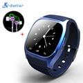 Anti-perdida de smart watch smartwatch para android iso sincronización blackberry bluetooth4.0 teléfono anti-robo de alarma reloj de pulsera