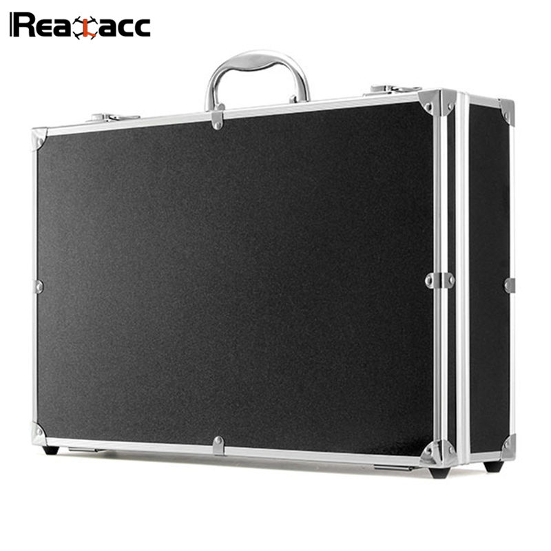 Original Realacc Aluminum Hardshell Suitcase Carrying Case Box Hand Bag For Hubsan H501S X4 Standard Version RC Quadcopter Black hard shell backpack case bag for hubsan x4 h501s rc quadcopter