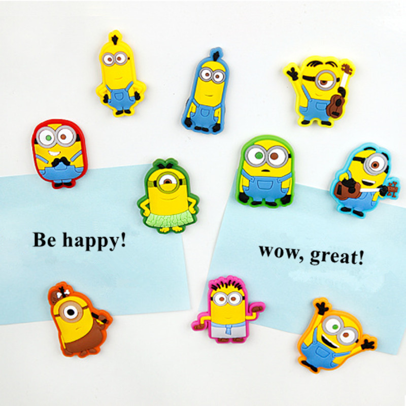 9 pcs/lot cute minion fridge magnets kids gift  funny magnetic stickers for refrigerator decoration