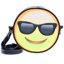 Mode niedlich damen Handtaschen Unisex Emoji Leder Cross Body Schultertasche Messenger Bag Damen Designer-handtaschen Hochwertige 2016