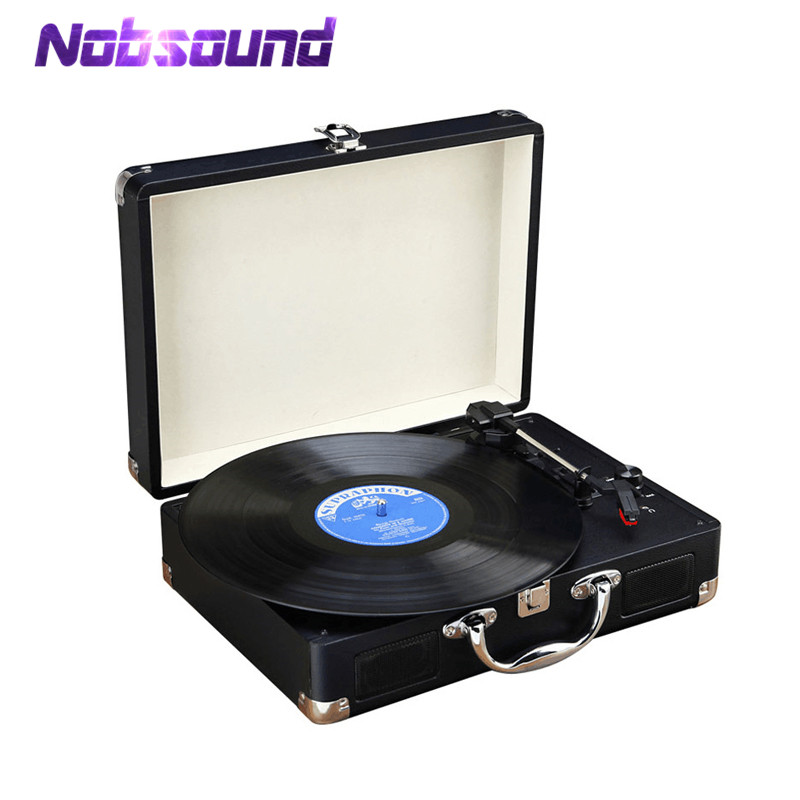 все цены на Nobsound Portable 3-Speed Stereo Turntable Retro LP Vinyl Record Player Built-in Speakers in Suitcase онлайн