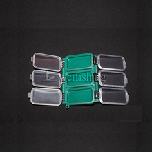 2Pcs Fishing Box Fishing Tackle Box Small Storage Bait Box Convenient  PP material Green 11.50*7.9*2.3cm 6 Compartments Pesca