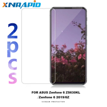 купить 2PCS Tempered Glass For Asus ZenFone 6 2019 ZS630KL 6Z Screen Protector Toughened Protective Film Guard дешево