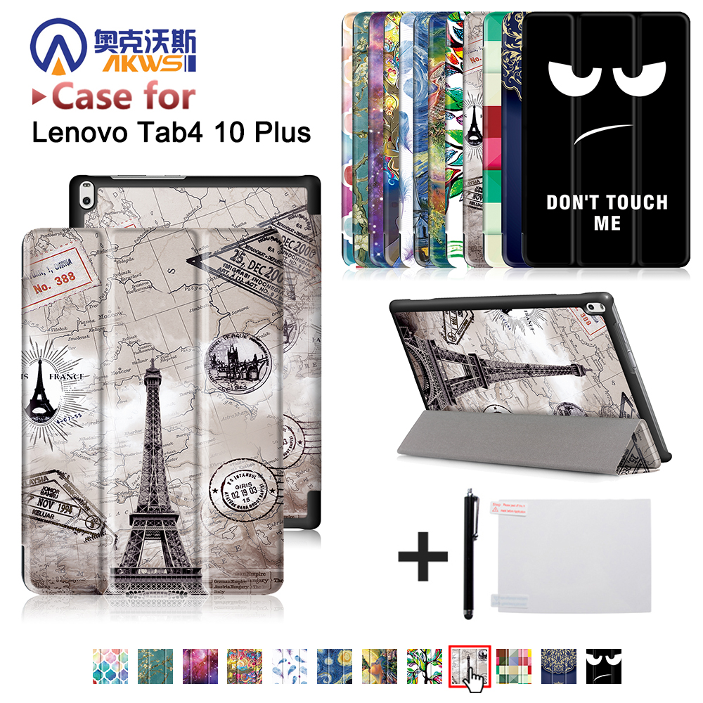 Funda cover case For Lenovo TAB 4 10 Plus TB-X704N TB-X704F Tablet (2017 released) protective cover skin case+free gift phab2 plus soft silicone case cover ultraslim tablet phone case 6 44 protective stand for lenovo phab2 plus pb2 670 shell skin