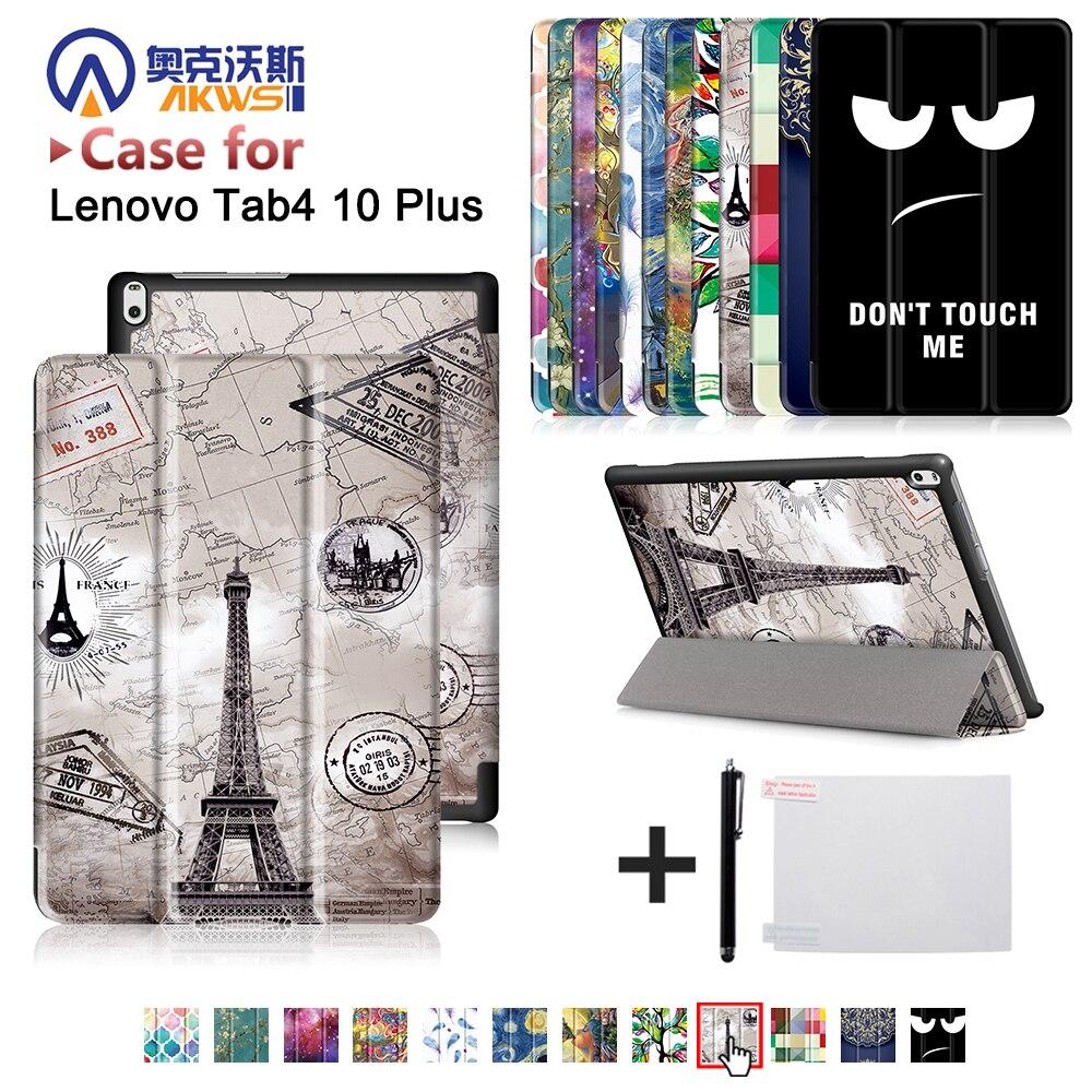 Funda housse Pour Lenovo TAB 4 10 Plus TB-X704N TB-X704F Tablet (2017 publié) housse de protection de la peau cas + cadeau gratuit