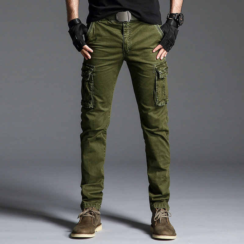 2021 Algodon Para Hombre Pantalones De Carga Ejercito Tactico Pantalones Hombre Multi Bolsillo Prendas De Vestir Pantalones Rectos Militar Bragas De Los Hombres Pantalon Homme Pantalones Informales Aliexpress