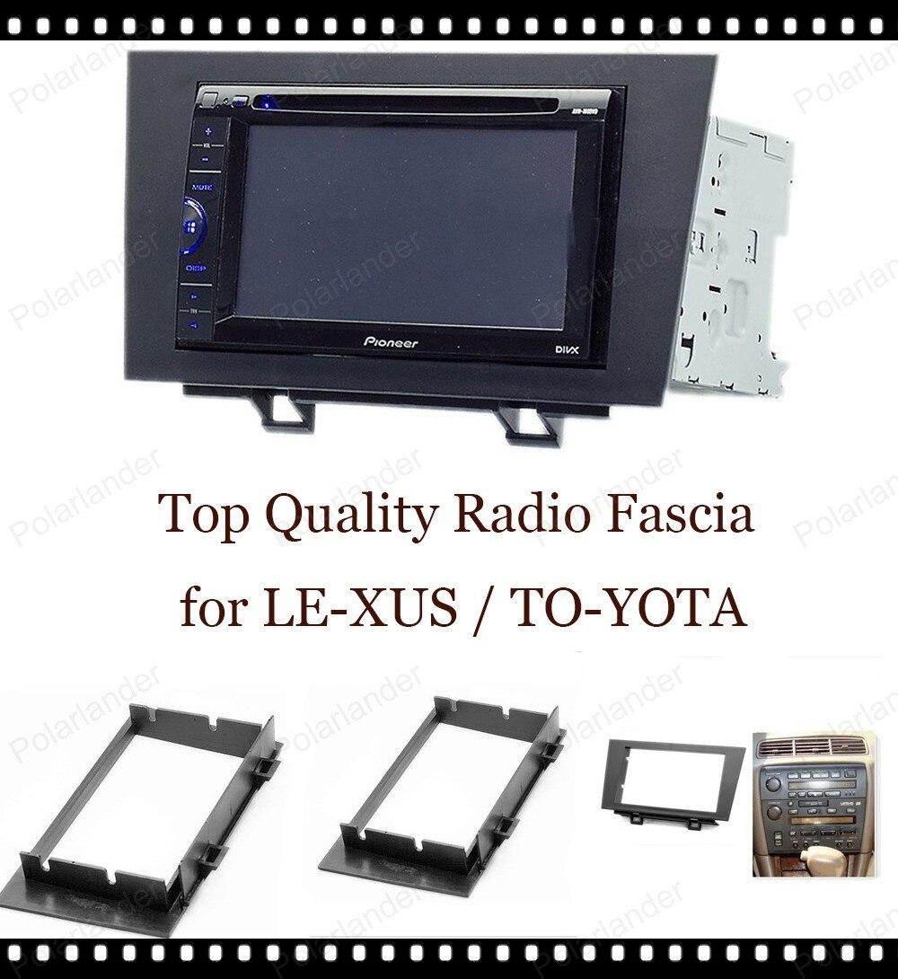 Voor LE-XUS ES 1992-1996 voor TO-YOTA Win-dom CV10 1991-1996 2-DIN auto radio surround trim frame ABS Plastic Black gratis verzending
