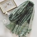 New thin Spring national wind fashion retro scarf green jungle pattern printing scarf large shawl dual purpose female Sunscreen