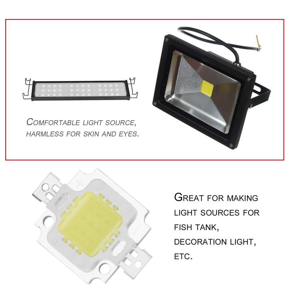 High Power Pure White COB SMD Led Beads Chip Flood Light Lamp Bead 10W --M25