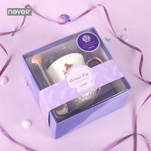 Never Mermaid Series Business Office Stationery Gift Set for Teacher Gift Ceramics Mug Cup with Spoon Christmas Stationary Store