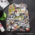 Hot Style Creative 3D Print Cartoon Sweatshirts Men One-Neck Streetwear Break Hip Hop Long Sleeve Pullover BBC Jacket Hoodies
