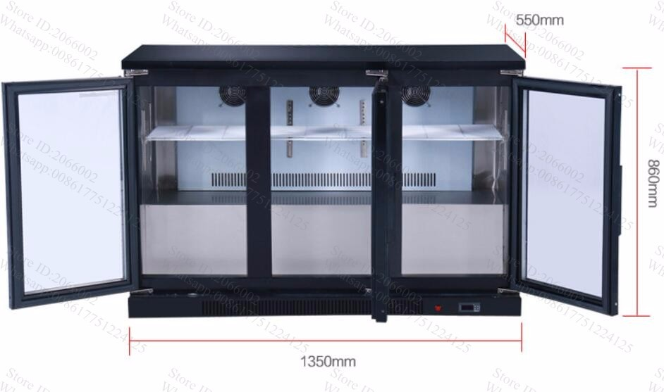 3 Push And Pull Glass Door Straight Cooling 330l Fruitdrinkcake
