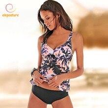 Купальник Танкини Женский, купальник большого размера 2020, винтажный Ретро купальник, пляжная одежда, купальник для женщин