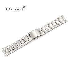 22mm Wholesale 316L Stainless Steel Silver Middle Polish Wrist Watch Band Strap Old Style Bracelet Double Push Deployment Clasp 22mm silver stainless steel shark mesh watch band men women replacement wrist strap push button hidden clasp high quality