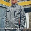 Desgaste do trabalho da longo-luva masculino gola quadrada moda frock outerwear carro uniforme jaqueta solta