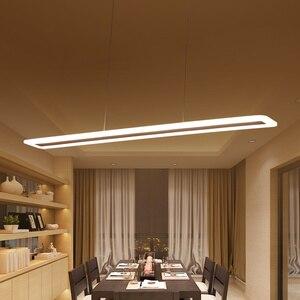 Image 1 - L40 120cm Hiện Đại Treo Đèn Cho Nhà Bếp Dinning Phòng Khách LED Mặt Dây Chuyền Đèn Kim Loại + Acrylic Mặt Dây Chuyền Đèn Treo Đèn LED