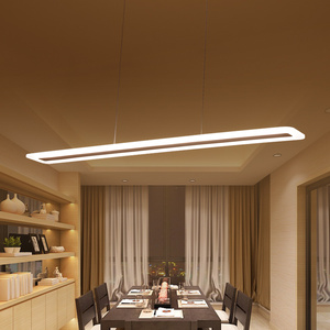 Image 1 - L40 120cm Modern Hanging Lamp for Kitchen Dinning Living Room led Pendant Lights Metal+acrylic Pendant Lamp Suspension Luminaire
