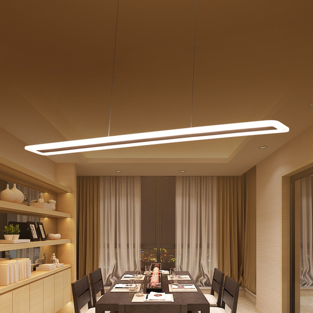 L40 120cm Modern Hanging Lamp for Kitchen Dinning Living Room led Pendant Lights Metal+acrylic Pendant Lamp Suspension Luminaire